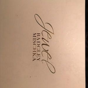 Badgley Mischka Shoes - Blush/Rose Gold Glitter Satin Evening Heels Sz 9